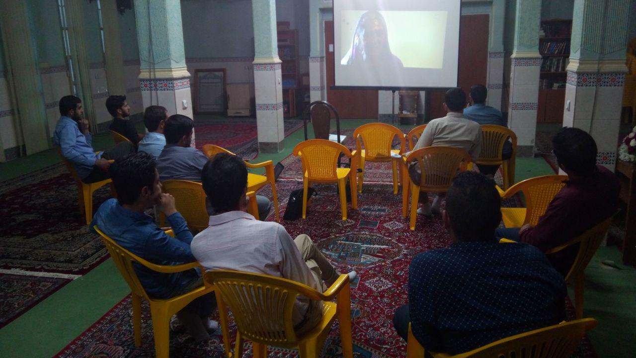 اکران و تحلیل مستند فراموش شده ها برای تشکل دانشجویی دارالقرآن مهدیشهر